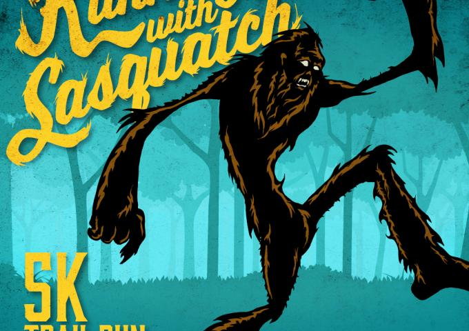 running with sasquatch 5k trail run april 25, 2020
